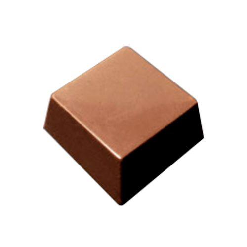 Forma em Polipropileno - Bombom Quadrado 3,0 x 3,0cm (21g) - Cristal Formas