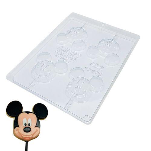 Forma de Chocolate Acetato Pirulito Rosto Mickey (10 uni) Disney - BWB