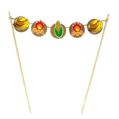 Bandeirola Temas de Festa Junina - Papel Confeito