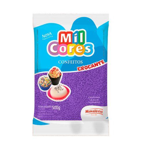 Confeito Miçanga Mil Cores n°0 (500g) - Lilás