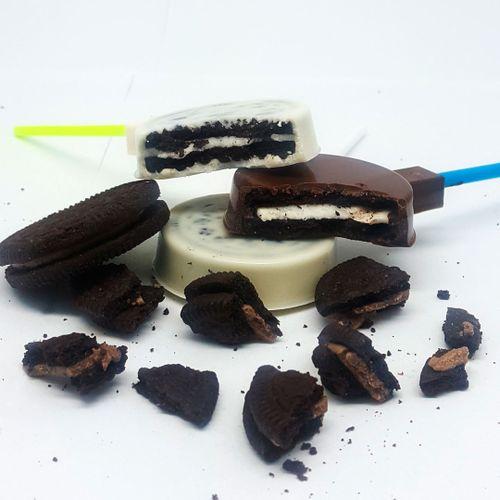 Forma de Chocolate Acetato Pirulito Oreo (10 uni) - BWB