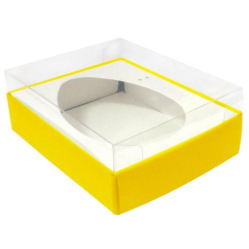 Caixa Ovo de Colher 350/400g Amarela (10uni) - ArtCrystal