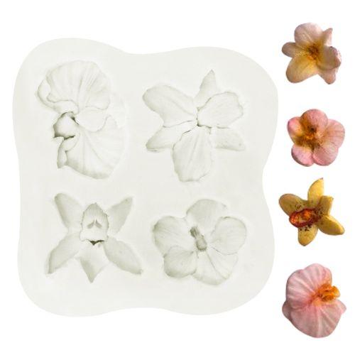 Molde de Silicone Mini Orquídeas - Gummies