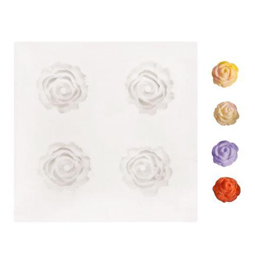Molde de Silicone Quatro Rosinhas Mini - Gummies