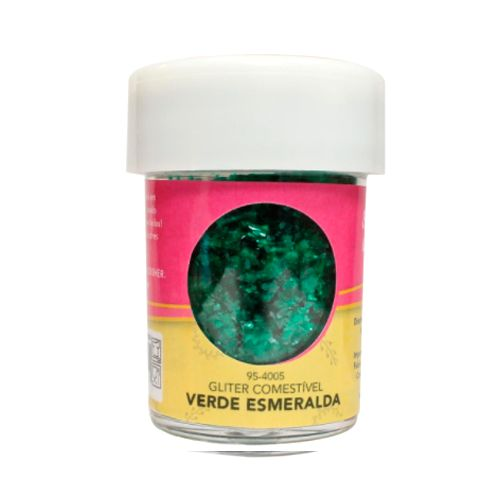 Glitter Comestível para Decoração de Doces (7,08g) Celebrate - Verde Esmeralda