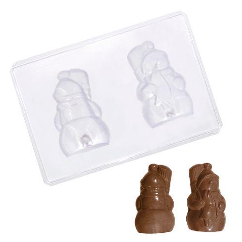 Forma para Chocolate em PVC - Boneco de Neve Grande (5 uni)