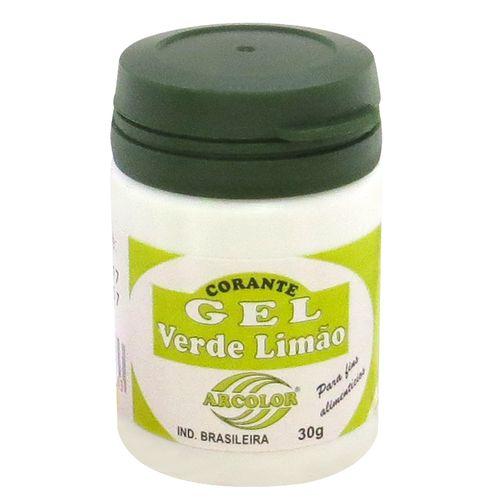 Corante gel Arcolor 30ml - Verde Limão