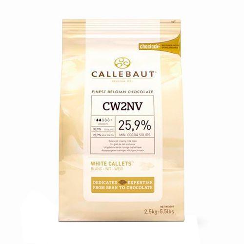 Chocolate Callebaut Branco CW2 25,9% Cacau em Callets (2,5kg) - Callebaut