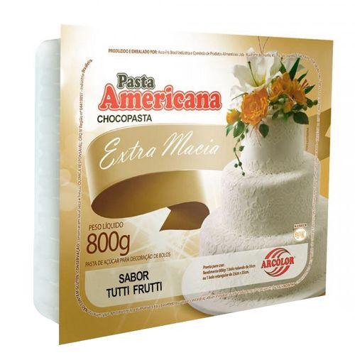 Pasta Americana Branca Sabor Tutti Frutti 800g - Arcolor