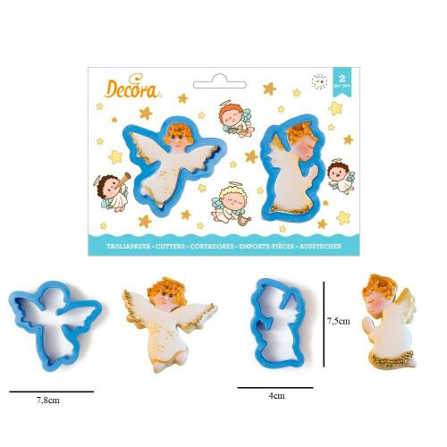 Kit Cortadores Anjos (2pcs) - Decora