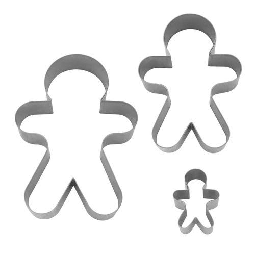 Kit Cortadores - Boneco de Gengibre
