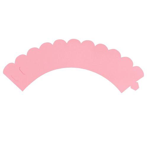Saia de Mini Cupcake Wrapper Rosa (12uni) - Mimo