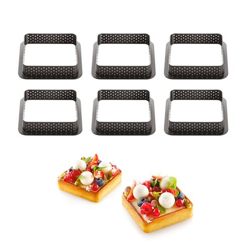 Tarte Ring Quadrado 8 x 8 x 2cm - Silikomart