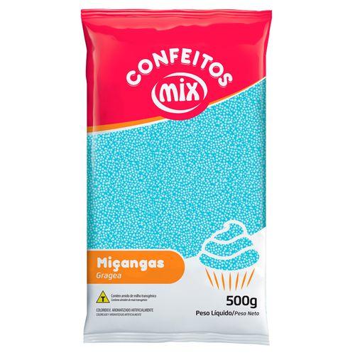 Confeito Miçanga Azul Bebê (500g) - Mix