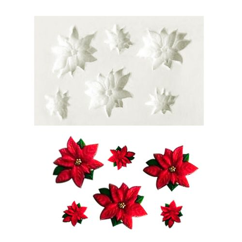 Molde de Silicone Flores de Natal - Gummies