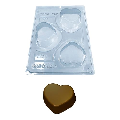 Forma PVC com Silicone Mini Pão de Mel Coração -BWB