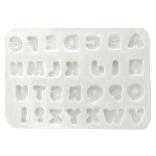 Molde de Silicone Letras Pequenas - Gummies