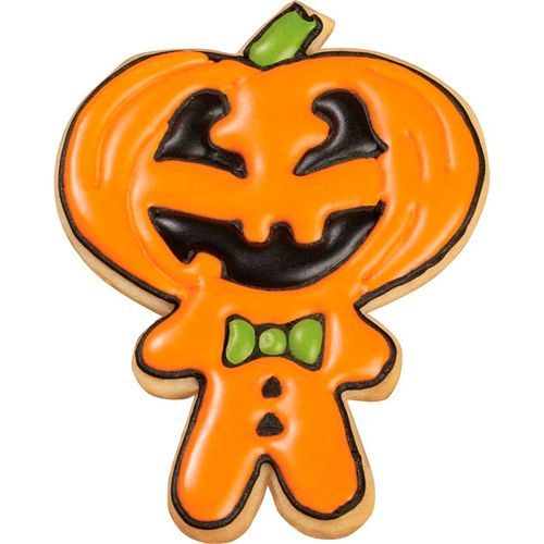 Trick-Or-Treat Pumpkin-Head Boy, Boo, and Eek Colored Metal Cookie Cutter Set - Wilton
