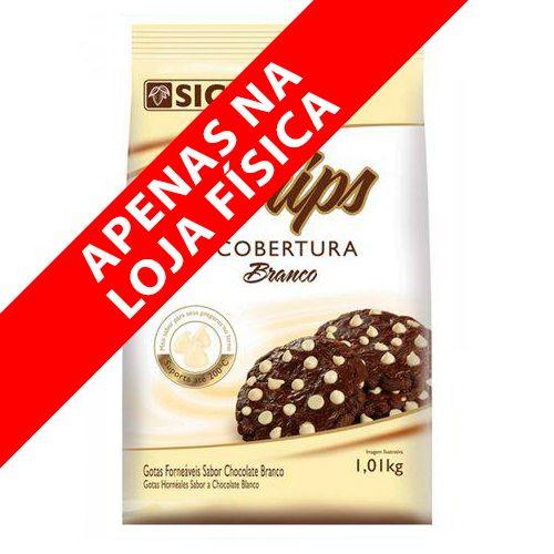 Cobertura Gotinhas Forneáveis Chips Branco (1,01kg) - Sicao