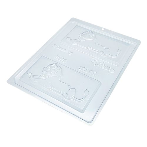 Forma de Chocolate em Acetato Tablete/Barra Rei Simba (10 uni) Disney - BWB