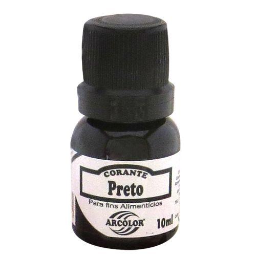 Corante líquido Arcolor 10ml - Preto