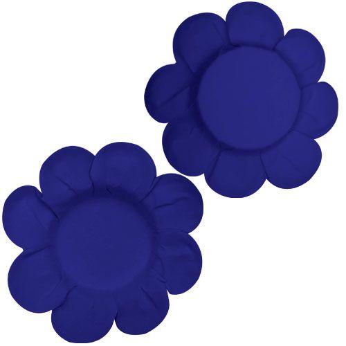 Forminha para Doce Margarida Lisa - Azul Escuro (50 uni)