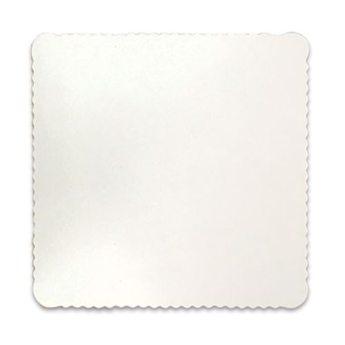 Base para Bolo Cakeboard Quadrada Branca 32cm (10uni) – Ultrafest