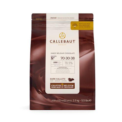 Chocolate Callebaut Amargo 70,5% Cacau nº 70-30-38 em Callets (2,5kg) - Callebaut