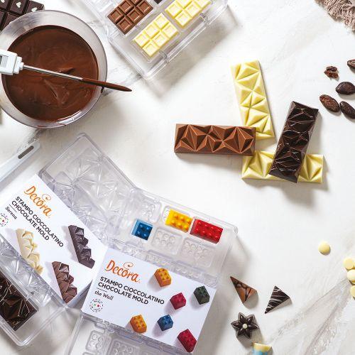 Forma de Chocolate em Policarbonato Tablete/Barra Serena - Decora