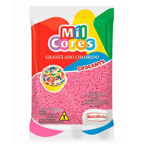 Granulado Crocante Rosa 500g - Mil Cores