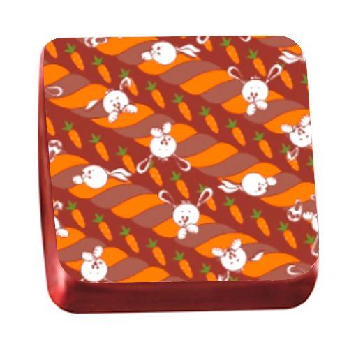Transfer para Chocolate Páscoa 40 x 30cm - Trançado Laranja