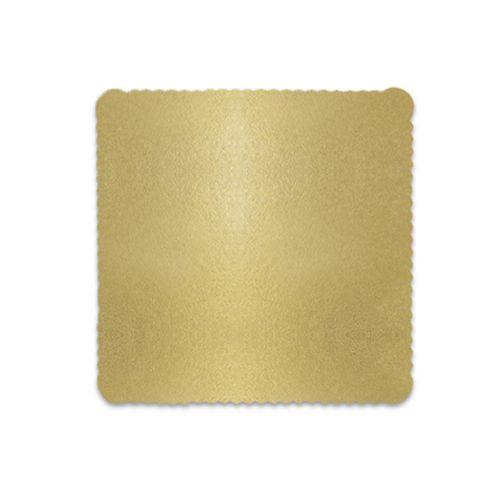 Base para Bolo Cakeboard Quadrada Ouro 24cm (10uni) – Ultrafest