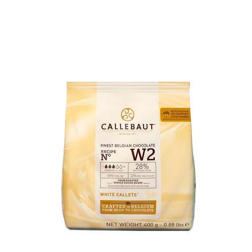 Chocolate Callebaut Branco W2 28% Cacau em Callets (400g) - Callebaut