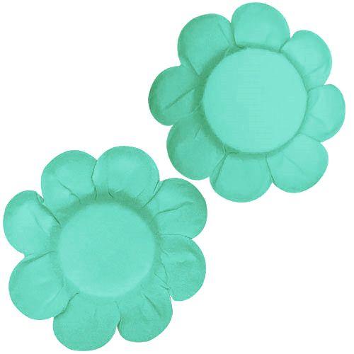 Forminha para Doce Margarida Lisa - Azul Tiffany (50 uni)
