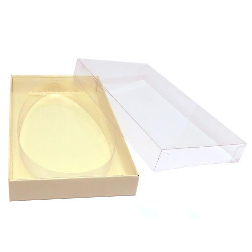 Caixa para Ovo Plano em Barra Alto Grande Marfim (4 uni) - Mimo