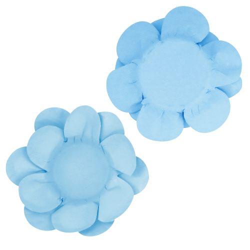 Forminha para Doce Flor Dupla Lisa (40uni) - Azul Claro