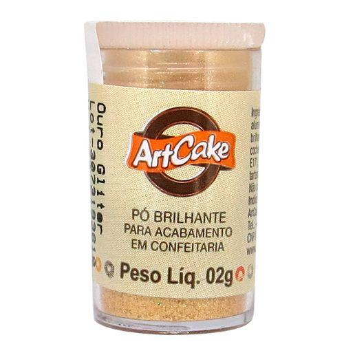 Pó Brilhante para Acabamento ArtCake - Ouro Glitter