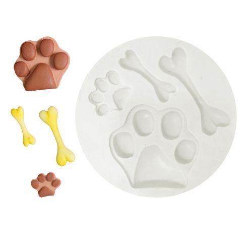 Molde de Silicone Cachorro Ossos e Patas - Gummies