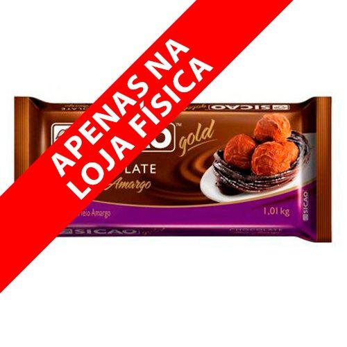 Chocolate Sicao Gold Meio Amargo Barra (1,01kg) - Sicao
