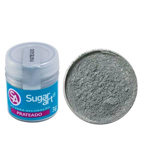 Corante em Pó 3g Sugar Art - Prateado