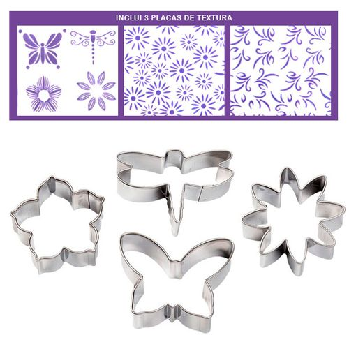 Garden Fondant Cut-Outs Pattern Set - Wilton