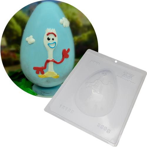 Forma de Chocolate Ovo de Páscoa Acetato e Silicone Toy Story 4 Forky 350g - BWB Disney