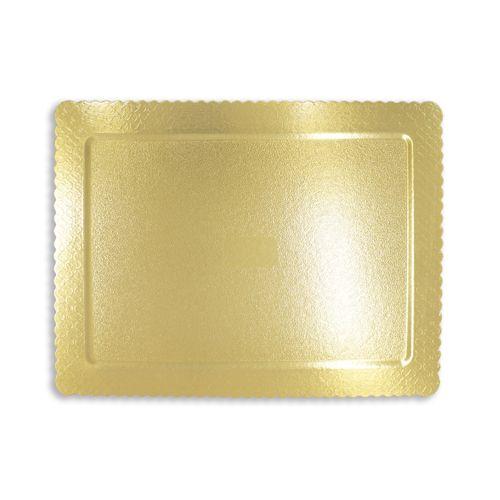 Base para Bolo Cakeboard Retangular Ouro 40 x 30cm (10uni) – Ultrafest