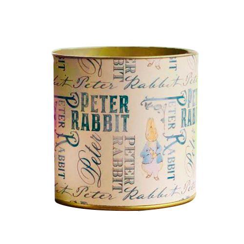 Lata Decorada de Páscoa Peter Rabbit Bege (2 uni) - Papel e Confeito