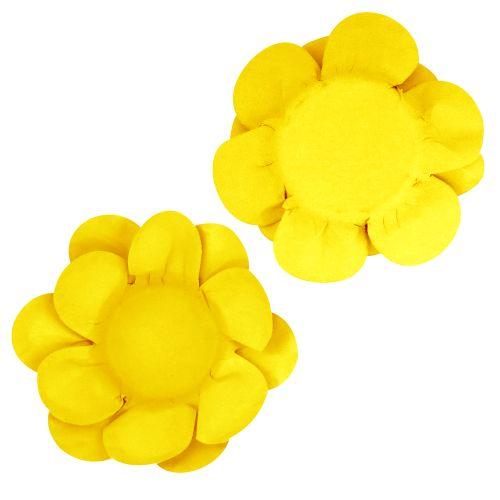Forminha para Doce Flor Dupla Lisa (40uni) - Amarela