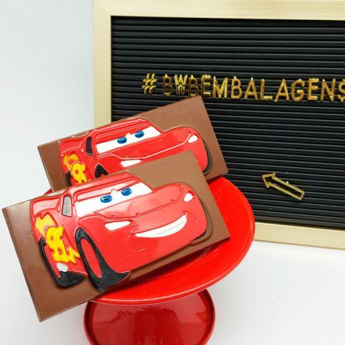 Forma de Chocolate em Acetato Tablete/Barra McQueen (10 uni) Disney - BWB