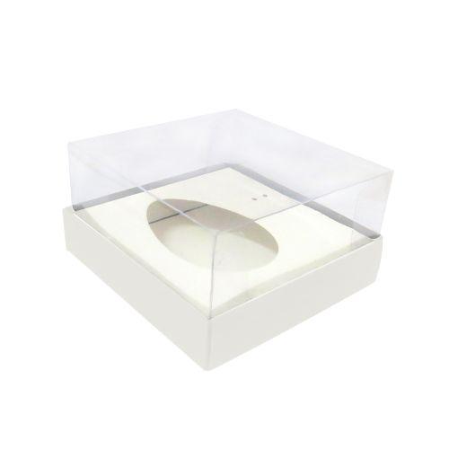 Caixa Ovo de Colher 100/150g Branca (10uni) - ArtCrystal