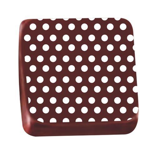 Transfer para Chocolate (40 x 30cm) - Pois Branco