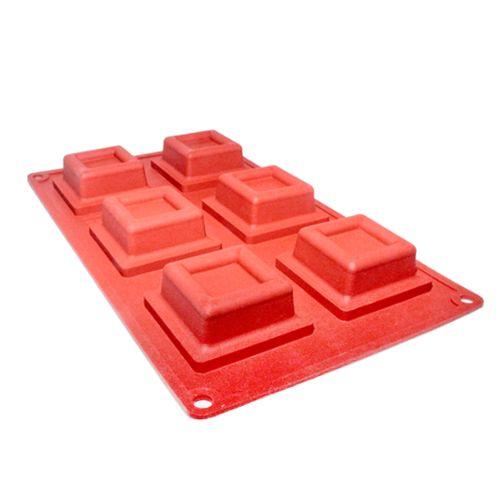 Forma em Silicone Mini Ballerine Quadrada - Cimapi