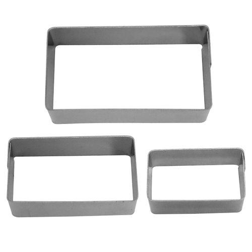 Kit Mini Cortadores Retângulo - HN